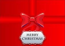 le cadre de fond enferme dans une boîte les bandes d'isolement d'or de cadeau de Noël blanches illustration libre de droits