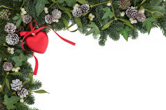 le cadre de fond enferme dans une boîte les bandes d'isolement d'or de cadeau de Noël blanches Photographie stock libre de droits