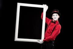 le cadre de sourire de participation de pantomime a isolé photo libre de droits