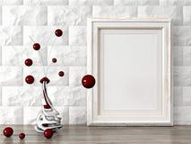 Le cadre moderne vide de style, 3D rendent Image stock