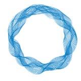 Le cadre rond abstrait avec le mouvement ondule, les lignes bleues de courbe Photos libres de droits