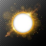 Le cadre rond avec la lumière orange a éclaté à l'arrière-plan illustration libre de droits