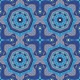 Le cadre sans couture de modèle de patchwork de la tuile florale colorée à la mode de fleur entoure Illustration Stock