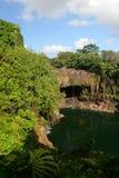 Le cadute dell'arcobaleno è una cascata situata in Hilo, Hawai Fotografia Stock