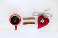 Le café égale l'amour Photo libre de droits