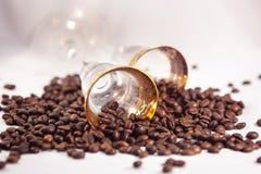 le café était dispersion Photographie stock libre de droits