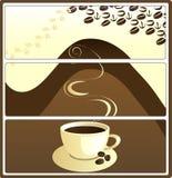 le café étiquette le vecteur Images stock
