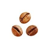 le café d'haricots a isolé Photographie stock libre de droits