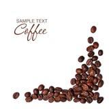 le café d'haricots a isolé Image stock