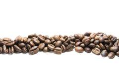 le café d'haricots a isolé Photographie stock