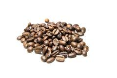 le café d'haricots a isolé Image libre de droits