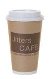 le café de café fictif disparaissent d'isolement à Image stock