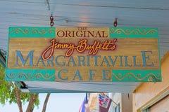 Le café de Margaritaville du Jimmy Buffett original Photos stock