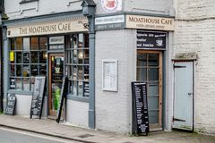 Le café de Moathouse, Arundel, le Sussex occidental image libre de droits