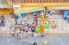 Le café de rue au Caire islamique, Egypte image libre de droits
