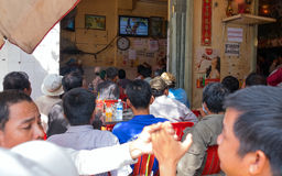 Le café de rue est boxe thaïlandaise d'émission Images libres de droits