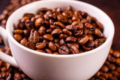 Le café de stimulation de matin avec des bonbons Il peut être utilisé comme fond image libre de droits