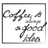 Le café est toujours une bonne idée illustration libre de droits