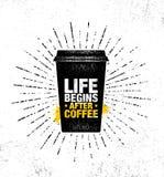 Le café et les amis font le mélange parfait Calibre créatif de inspiration d'affiche de citation de motivation de décoration de c illustration libre de droits