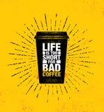 Le café et les amis font le mélange parfait Calibre créatif de inspiration d'affiche de citation de motivation de décoration de c illustration stock