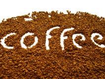 Le café normal en granules se ferment vers le haut Photos stock