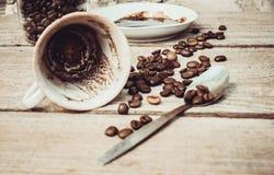 Le café potable de matin conjecture Image stock