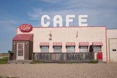 Le café rouge du gaz faisant le coin Photo libre de droits