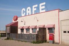 Le café rouge du gaz faisant le coin Photos libres de droits