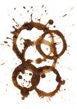 Le café souille et éclabousse Image stock