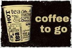 le café vont à Image libre de droits