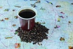 le café vont à Image stock