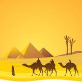 Le Caire, pyramides scéniques illustration de vecteur