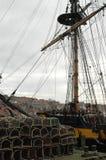 Le calage du bateau Photo libre de droits