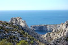 Le calanque (Marseille-Luminy) photo stock