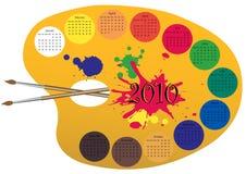 Le calendrier 2010 a effectué comme palett de peinture Image stock