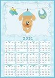 Le calendrier de la chéri pour 2011 Photographie stock libre de droits