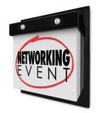 Le calendrier mural d'événement de mise en réseau exprime la réunion d'affaires de rappel Image libre de droits