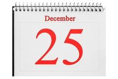 le calendrier sur le fond en bois Images libres de droits