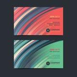 Le calibre créatif abstrait de disposition de design de carte d'affaires avec des courbes modèlent le fond illustration libre de droits