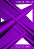 Le calibre d'affiche, d'insecte, de tract ou de couverture, le résumé violet 3d forme sur le backgroud blanc, texte témoin de tit illustration libre de droits