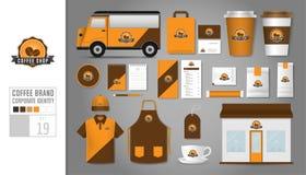 Le calibre d'identité d'entreprise a placé 19 Concept de logo pour le café illustration libre de droits