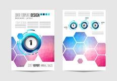 Le calibre de brochure, la conception d'insecte ou le Depliant couvrent à des fins commerciales Images libres de droits