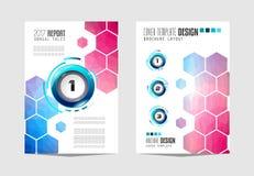 Le calibre de brochure, la conception d'insecte ou le Depliant couvrent à des fins commerciales Photographie stock