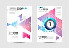 Le calibre de brochure, la conception d'insecte ou le Depliant couvrent à des fins commerciales Image stock