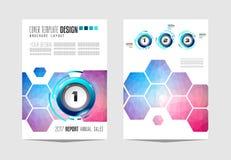 Le calibre de brochure, la conception d'insecte ou le Depliant couvrent à des fins commerciales Photos stock