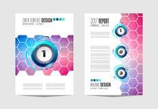Le calibre de brochure, la conception d'insecte ou le Depliant couvrent à des fins commerciales Photos libres de droits