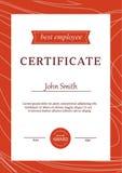Le calibre de certificat attribue le vecteur A4 de fond de diplôme Photos stock