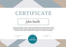 Le calibre de certificat attribue le vecteur A4 de fond de diplôme Images libres de droits