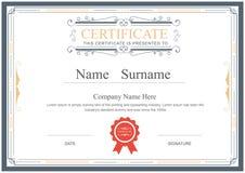 Le calibre de certificat s'épanouit le vecteur élégant illustration libre de droits