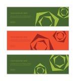 Le calibre de conception de bannière de Web a placé se composer des modèles de fond d'abstraction rose de fleur illustration de vecteur